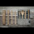 Kézzel készített bambusz evőeszköz készlet - Palaszürke