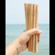 Bambusz szívószál készlet (6db) tasakban - Faszén