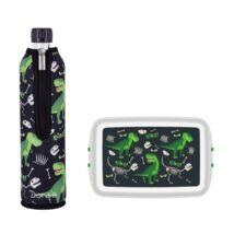 Bioműanyag, üveg uzsonnás szett - Dínó
