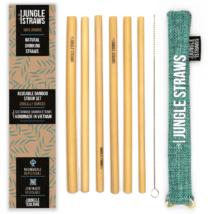 Bambusz szívószál készlet (6db) tasakban - Tenger