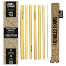 Bambusz szívószál készlet (6db) tasakban - Búza