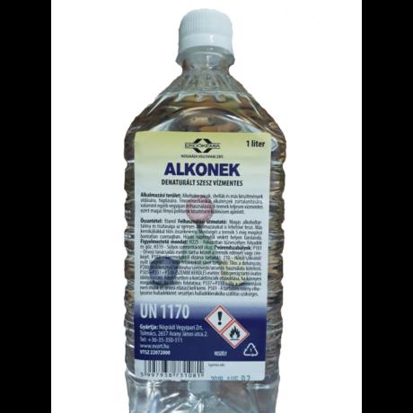 Alkonek denaturált szesz fertőtlenítéshez ~90% alkohol tartalom