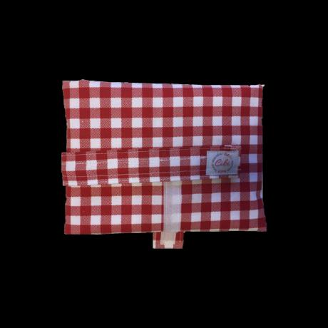 Cibi Újraszalvéta XL - Kockás piros