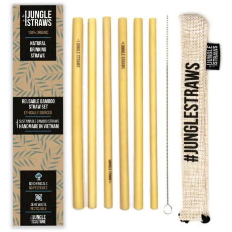 Bambusz szívószál készlet - Vanília