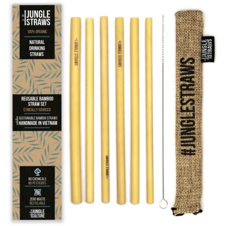 Bambusz szívószál készlet - Búza